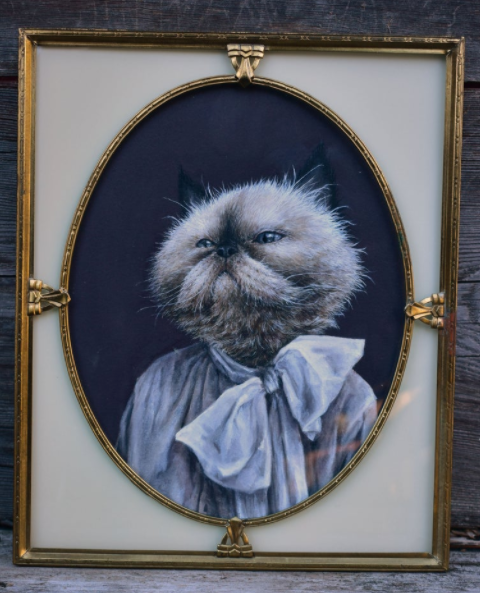 Original Art of cat by Liz Wiesel