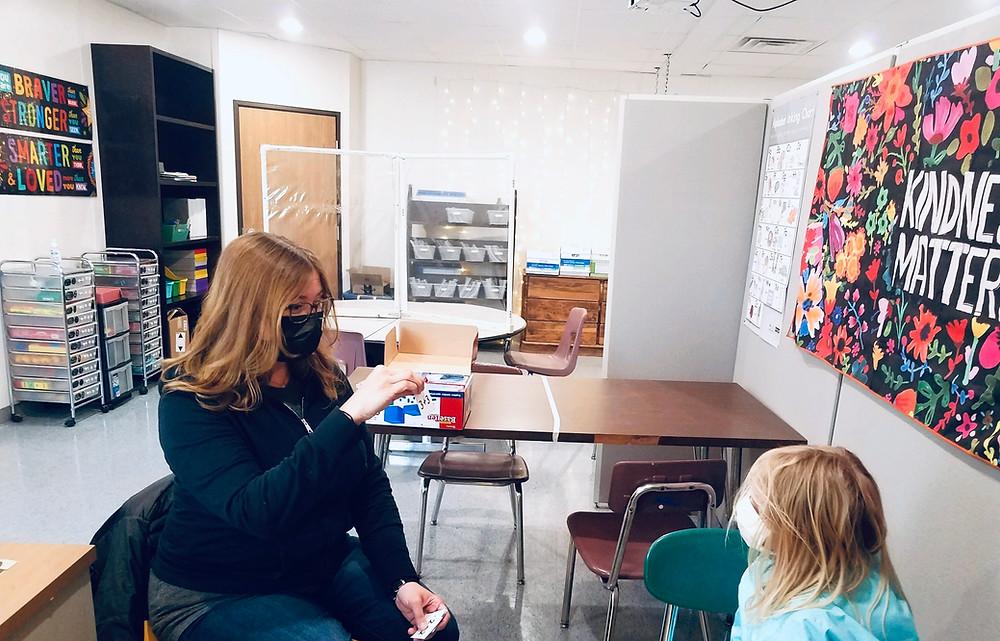 FernLeaf Intervention Program - Teacher with student