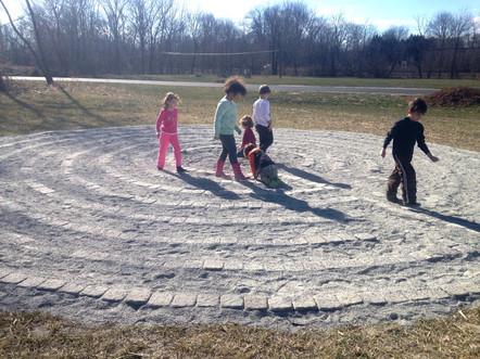 FernLeaf Community Charter School Children Walking Labyrinth