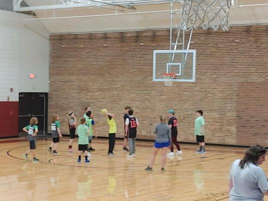 FernLeaf Community Charter School children playing basketball