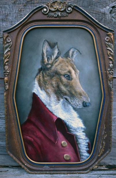 Original Art of dignified dog by Liz Wiesel