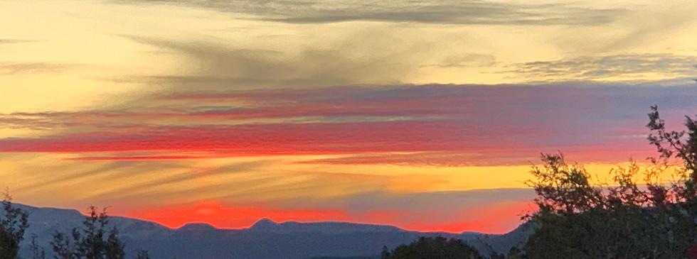 sunset in sedona