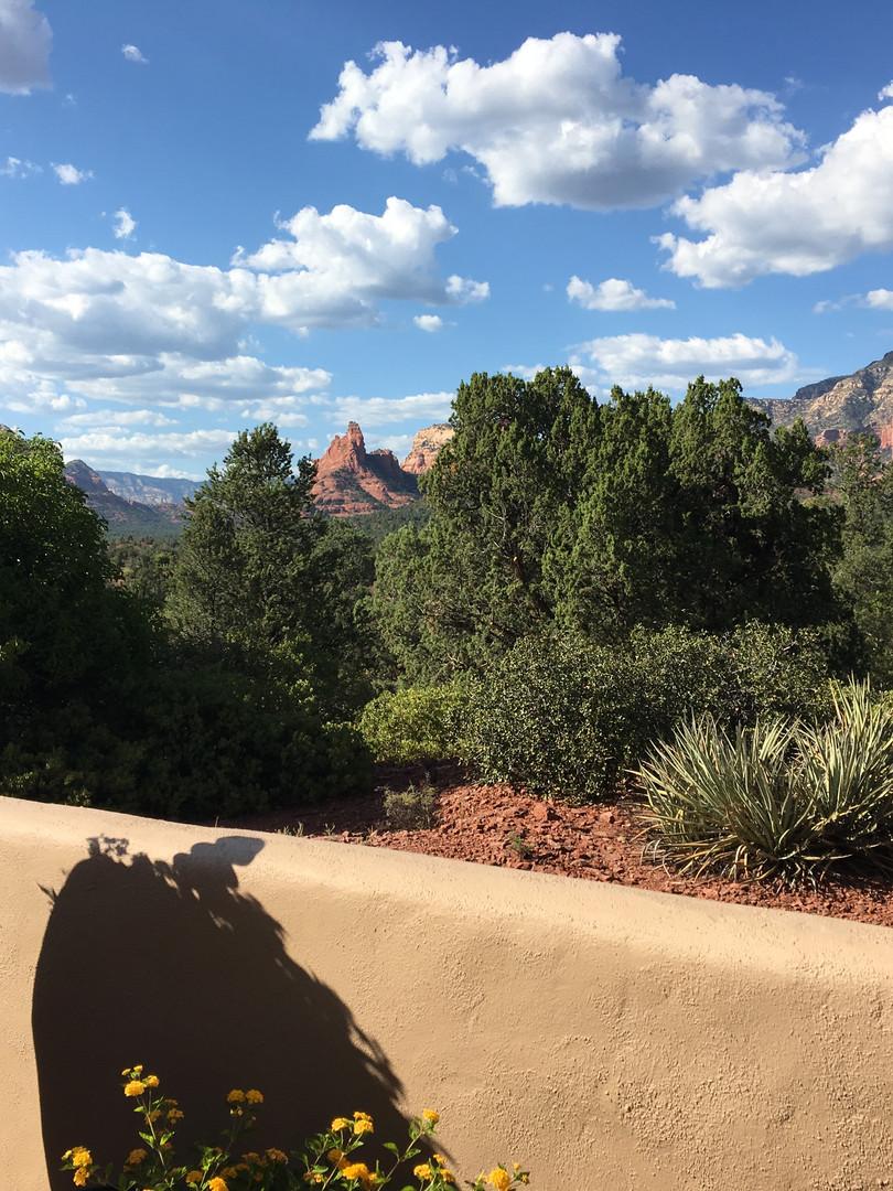 view from the terrace, sedona, arizona