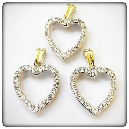 Corazón con piedras