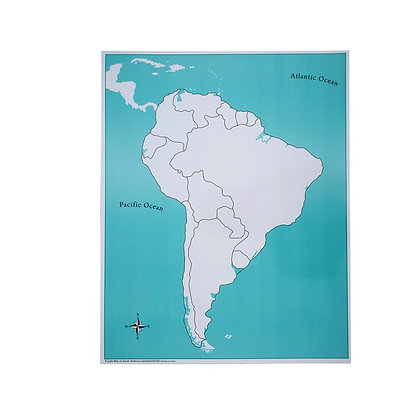 Unlabeled South America Control Map
