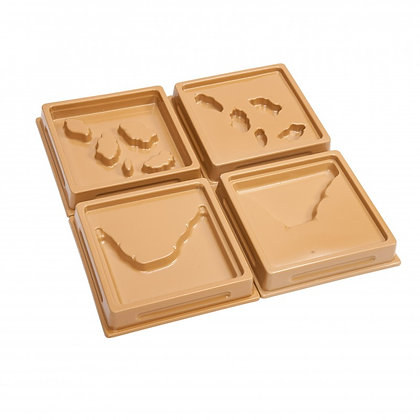 Land and Water Form Trays: Set 4