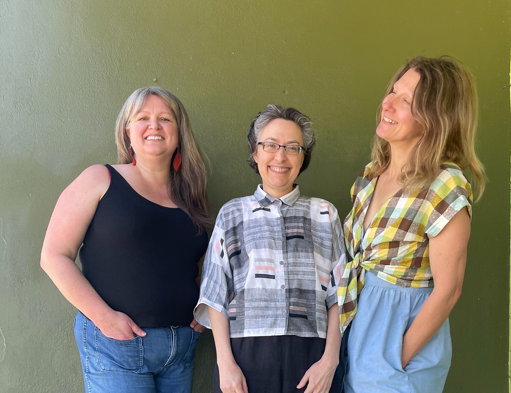 3 women who are partners in a sewing business