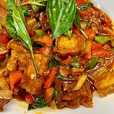 Kra Pao Moo Krob ( Stir-fried Crispy Pork Belly)