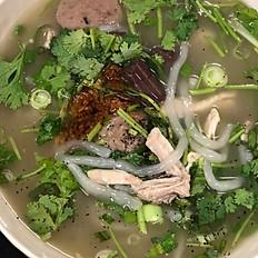 Khao Piak Sen (Homemade Noodle Soup)