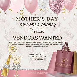 VENDOR REGISTRATION: Mother's Day Brunch & Bubbly