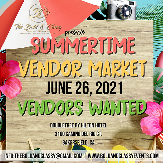 Summertime Vendor Market