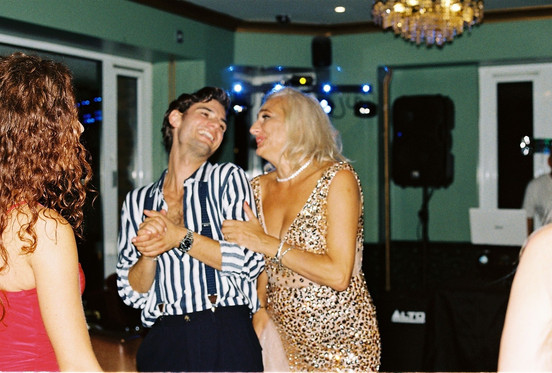 Jack and his Mum at her 50th birthday