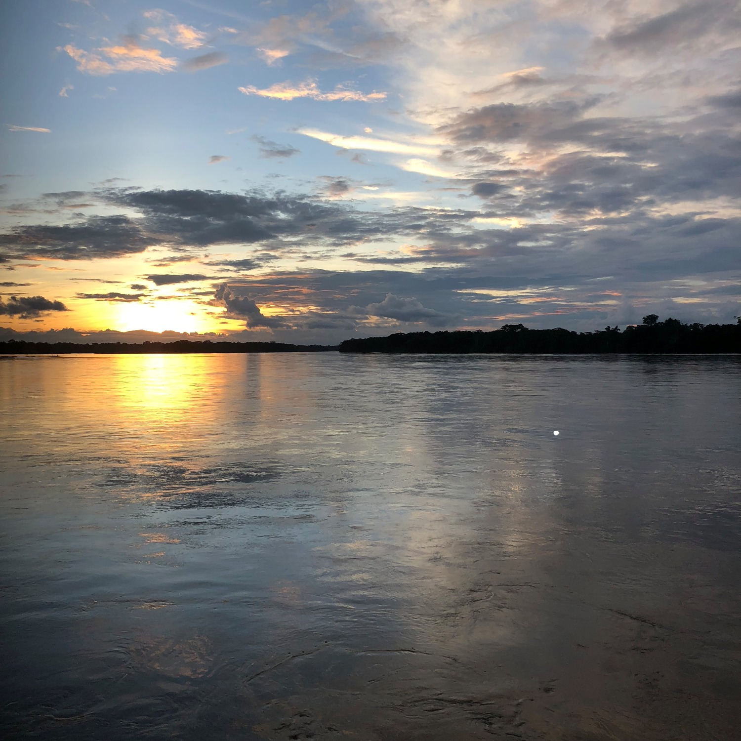 Sunset on the Napo River, Ecuador