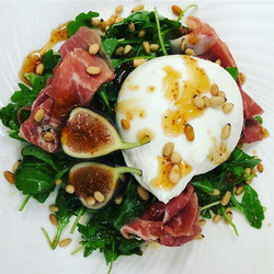 New menu starts tonight including the burrata cheese salad with figs, prosciutto, arugula, pine nuts