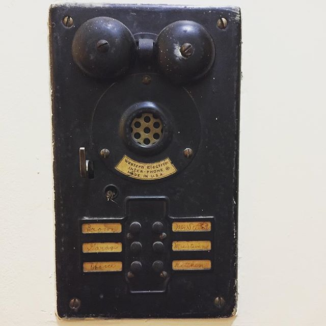 Ring ring! The 1890's communications system of the mansion