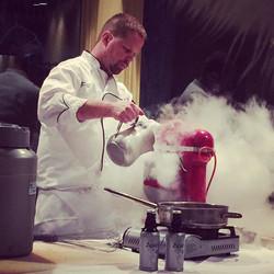 Chef Franks in action at Monday's private event! #cazenovia