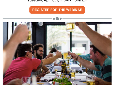 """Panel Discussion on 4/6 """"Reopening Restaurants : How safe is it to dine-in again?"""""""