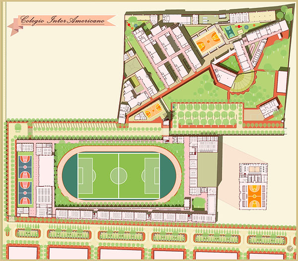 Masterplan of school in Guatemala designed by Cure and Penabad