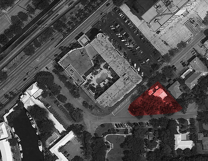 Location map for proposed project in Coral Gables Miami Florida