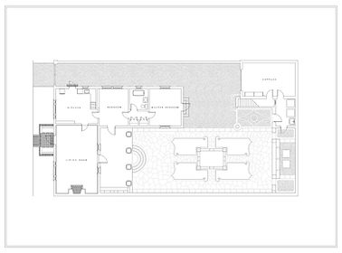 Cape Dutch House Residential Plan Drawing