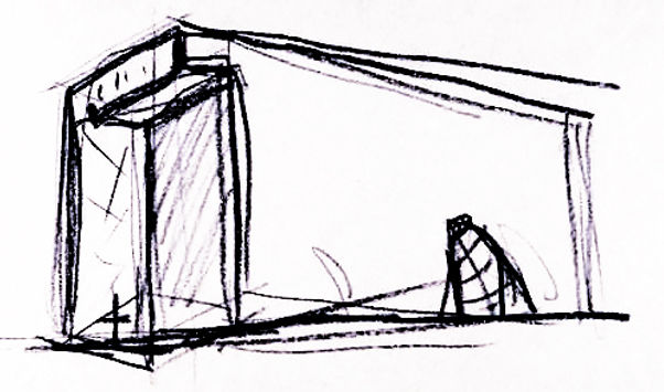 Preliminary Sketch for proposed project in Fort Wayne, Indiana