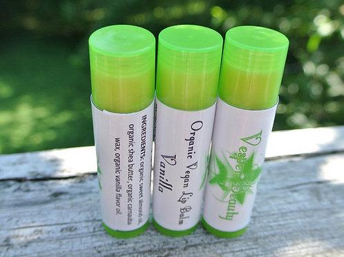 Vanilla Organic Vegan Lip Balm and $1 donation