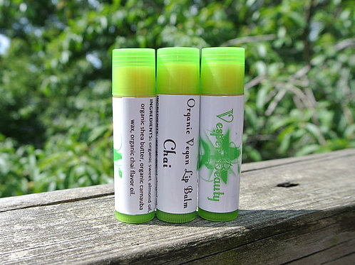 Chai Organic Vegan Lip Balm and $1 donation