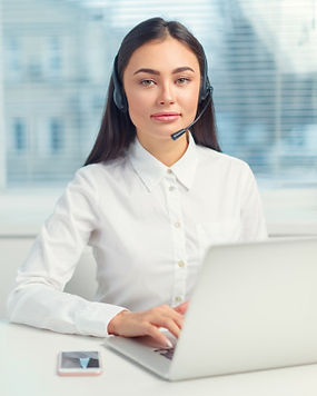support-phone-operator-headset-workplace