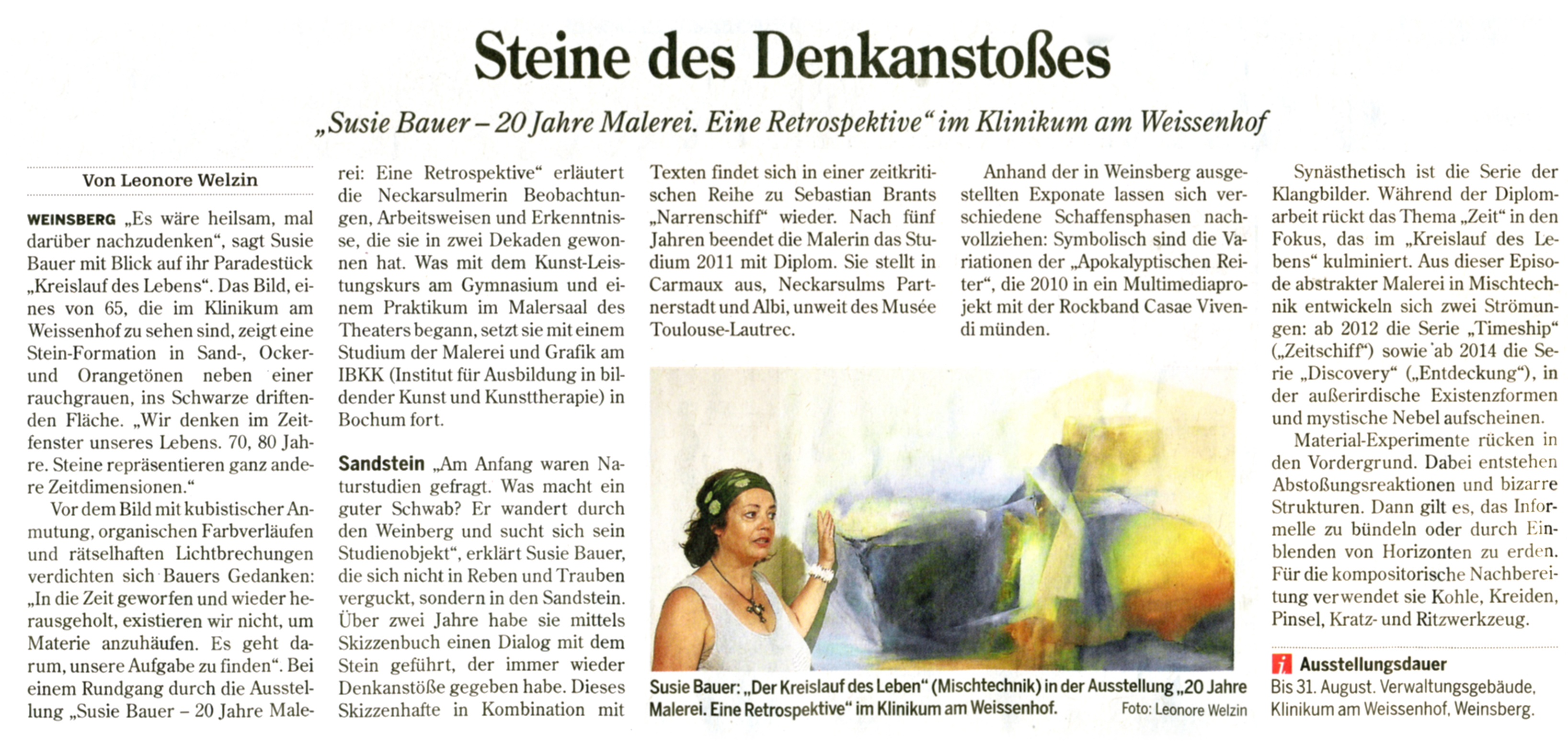 PR-Bericht Heilbronner Stimme 2016