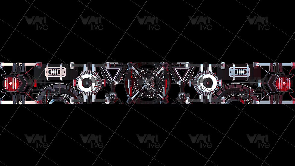 3D Mechanical Red Geometric Loop - VA-NC-0002