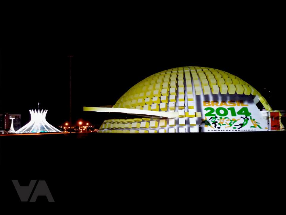 Mapping Externo - DF - Brasilia - Marca Copa 2014 - 2