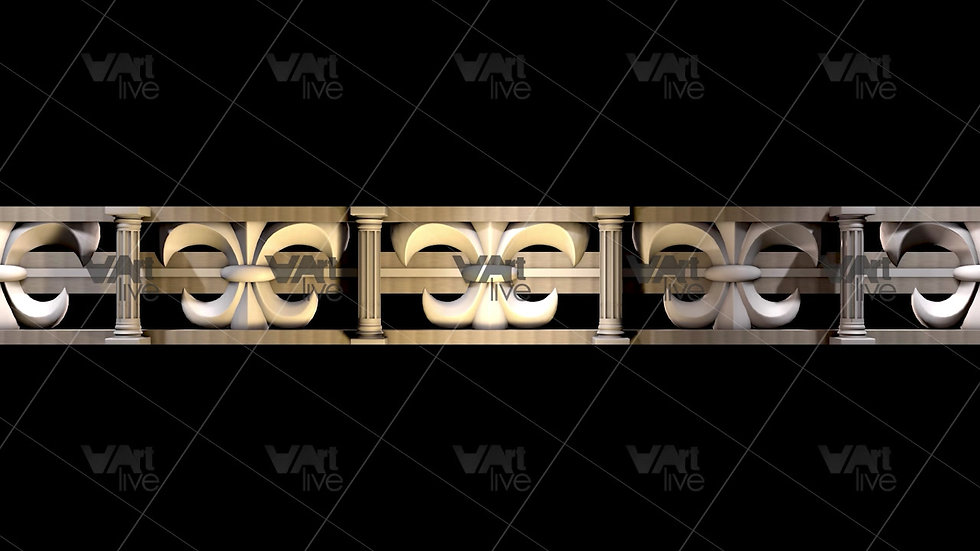 3D geometric Shapes Thematic Italy Gold  Loop - VA-NC-0010