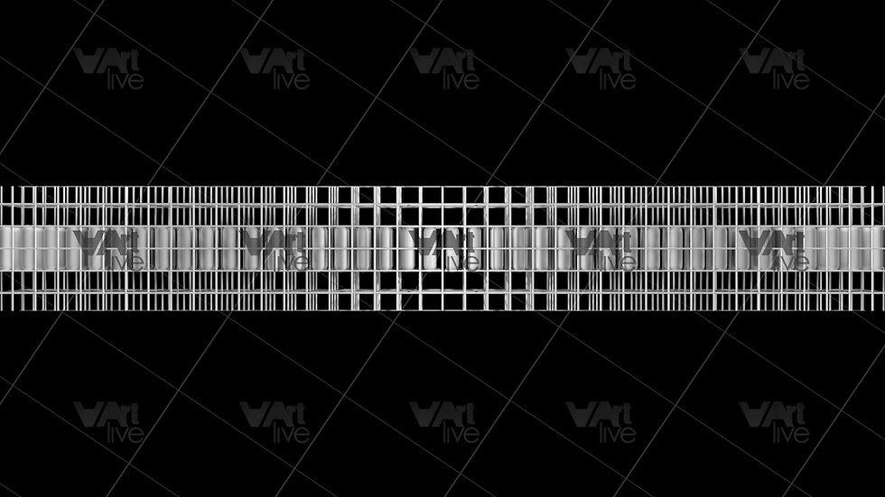 Geometric Shape 3D Silver Loop - VA-NC-0030