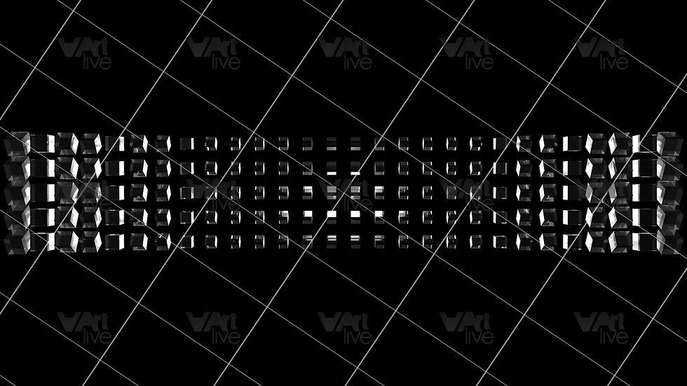 3D Geometric Shapes Silver Loop - VA-3H-0029
