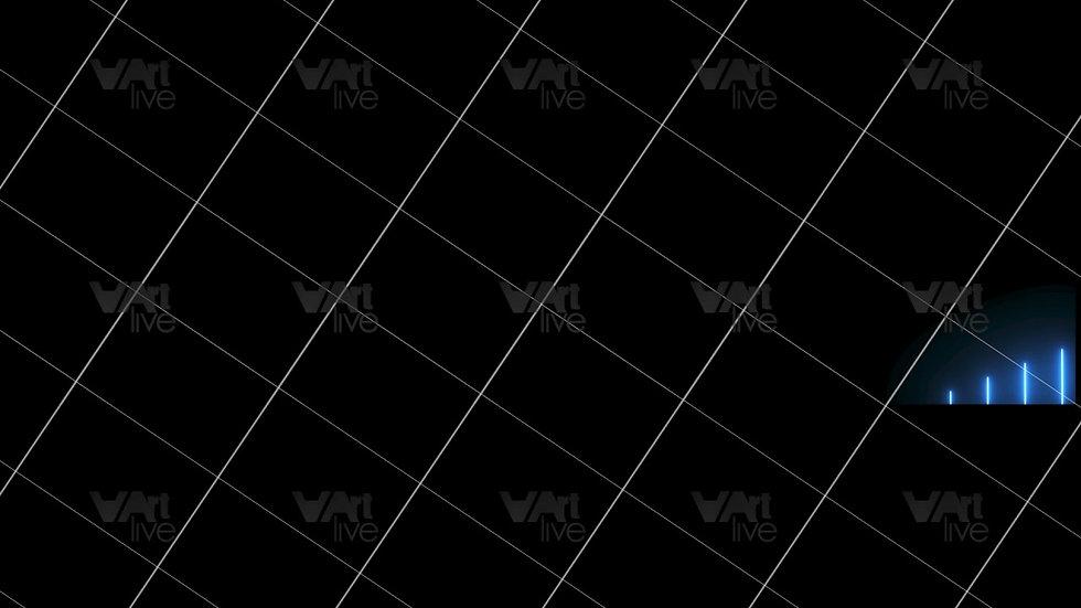 Blue Neon Lines Loop - VA-3H-0106