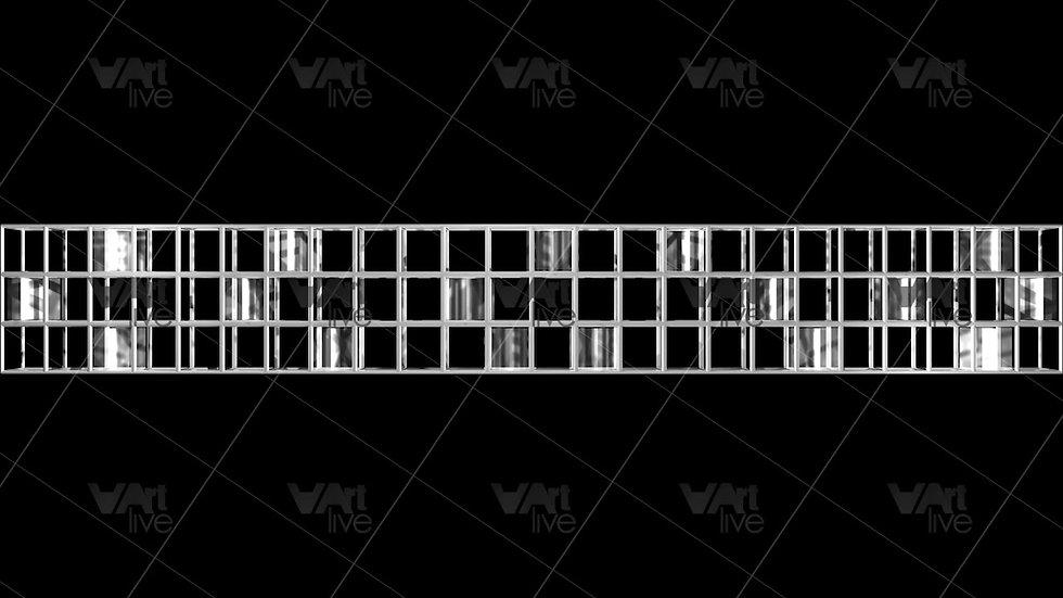 Geometric Shape 3D Silver Loop - VA-NC-0031