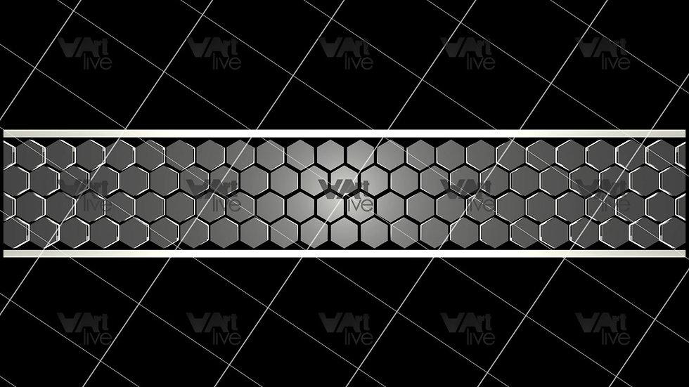 3D Geometric Shapes Silver  Loop - VA-3H-0020