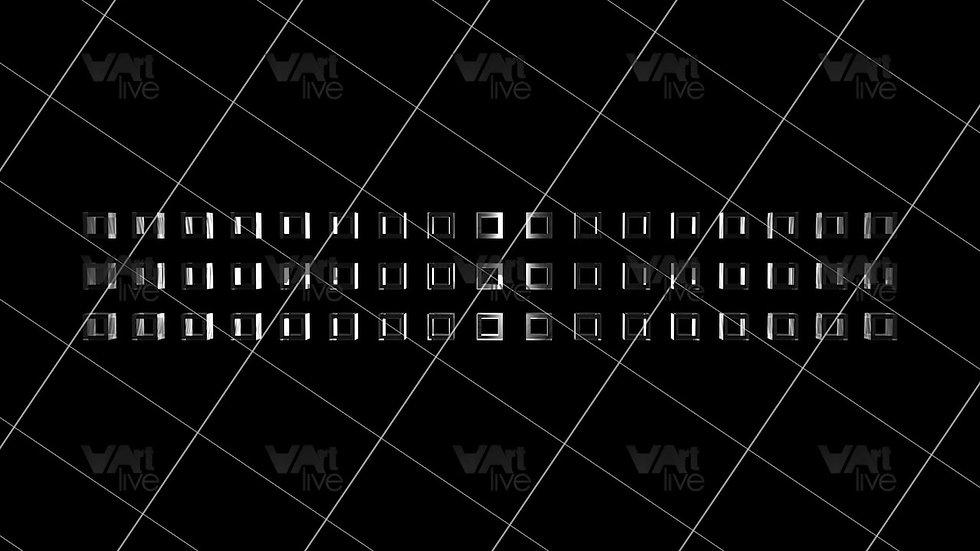 3D Geometric Shapes Silver Loop - VA-3H-0031