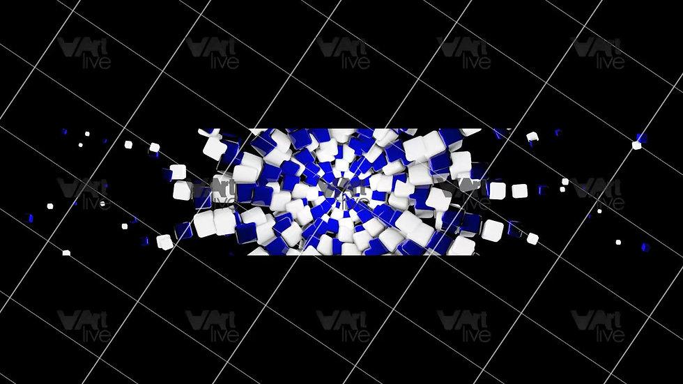 3D Geometric Shapes Colorful Loop - VA-3H-0048