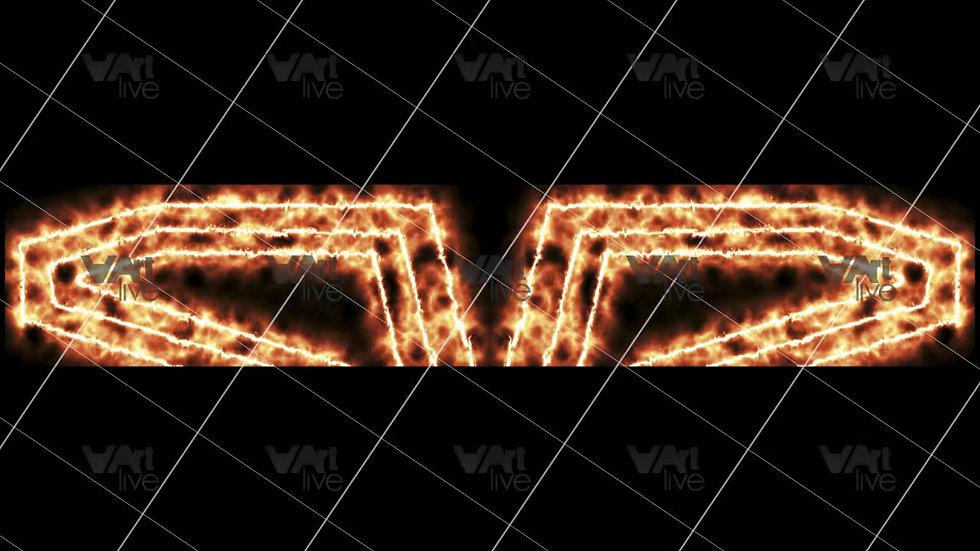 Gold Neon Lines Loop - VA-3H-0097