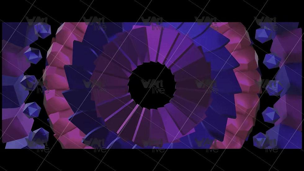 3D Colorful Geometric Shapes Loop - VA-NC-0001