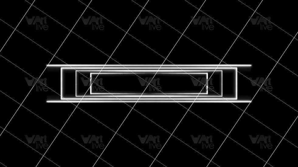 White Neon Lines Loop - VA-3H-0080