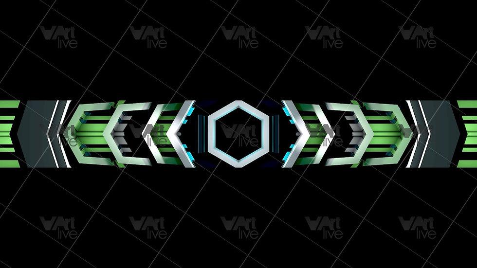 3D Geometric Shapes Green  Loop - VA-NC-0013