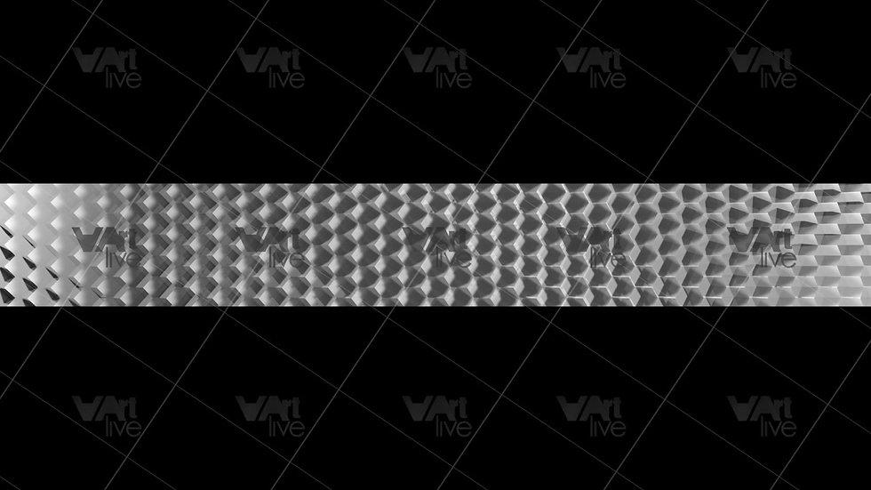 3D  Silver Geometric Shapes Loop - VA-NC-0022