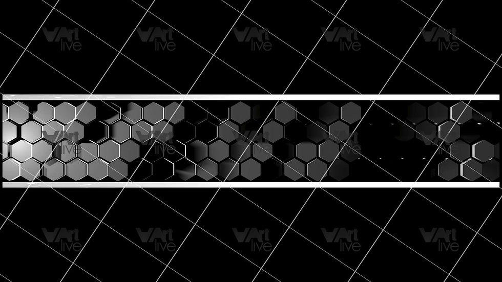 3D Geometric Shapes Silver  Loop - VA-3H-0022