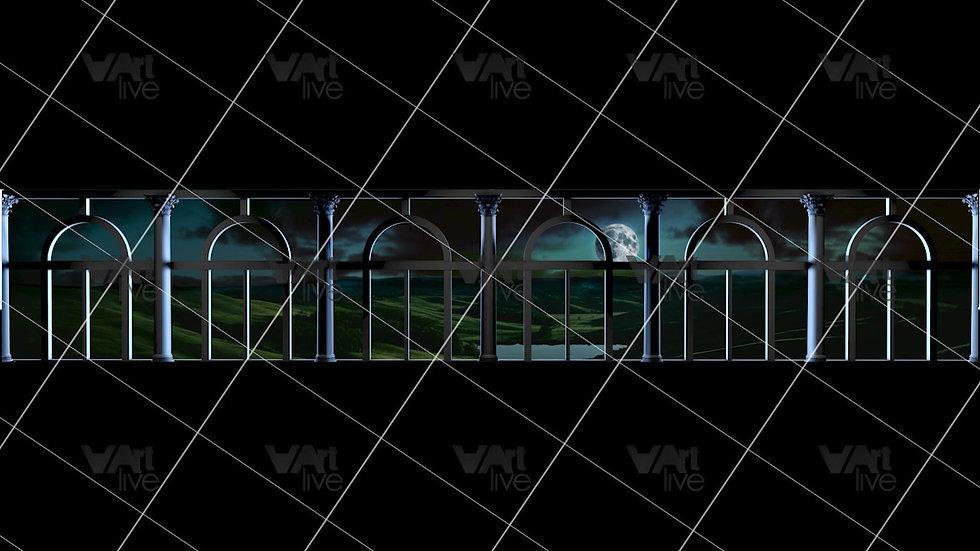 Modern Windows at Night 3D  Loop - VA-NC-0040