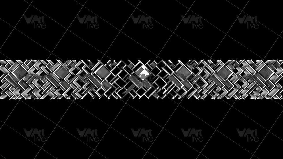 3D Geometric Shapes Silver  Loop - VA-NC-0016