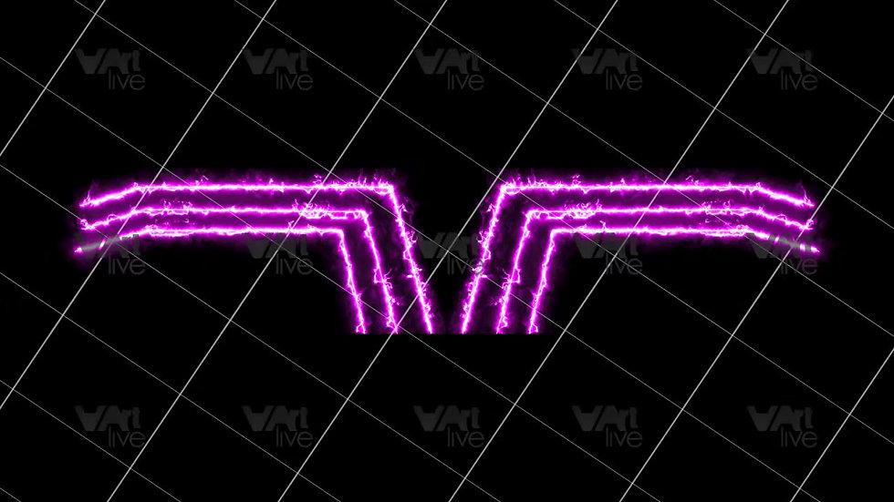 Purple Neon Lines Loop - VA-3H-0099