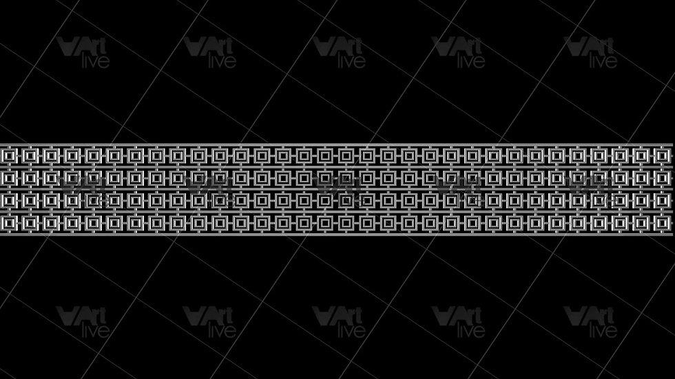 3D Geometric Shapes White  Loop - VA-NC-0005