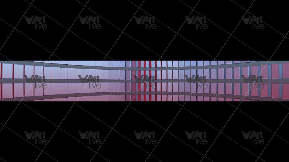 3D Geometric Shapes Red  Loop - VA-NC-0011